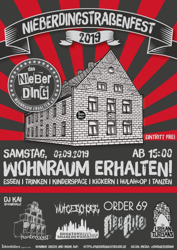 Nieberdingstrassenfest 2019 Plakat